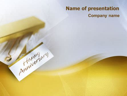 happy anniversary presentation template for powerpoint and