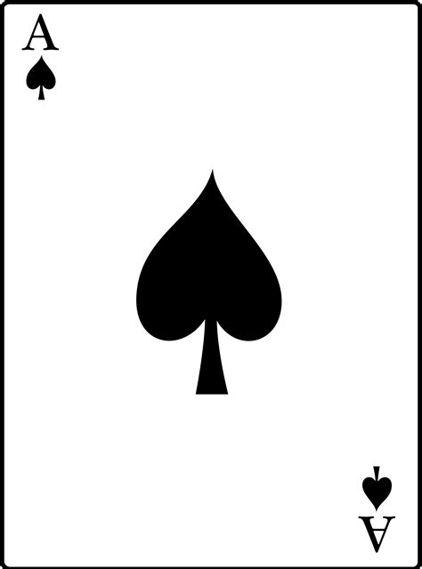 ace cards template ace card png transparent ace card png images pluspng