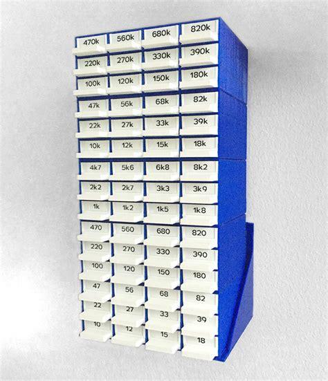 3d printed resistor storage box with wall mount zeropage io