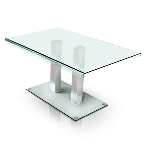 Furniture Of America Molina Glass Top Dinner Table In Dining Table Service