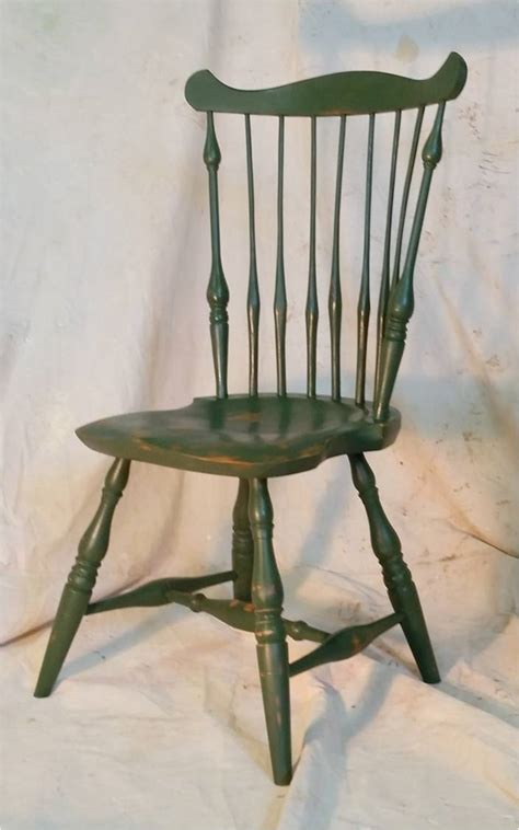 fan back windsor chair fan back with distressed finish