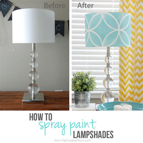 spray painting l shades how to stencil a lshade the creative