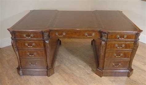 Vintage Desks For Home Office Chippendale Mahogany Partners Desk Desks Office Bureau Writing Antique Desksantique Desks