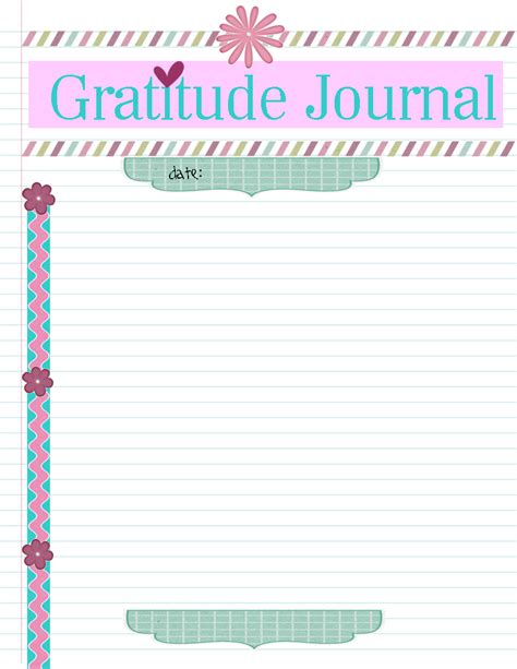 gratitude journal template sugar and spice for everyday craft projects