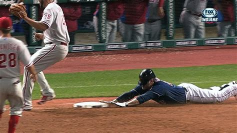 Home Plate Baseball phi cle giambi slides into first for base hit youtube