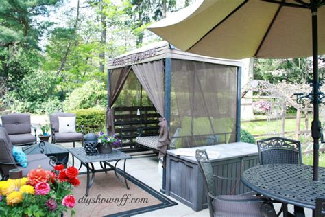 covered patio swing patio swing makeoverdiy show off diy decorating and