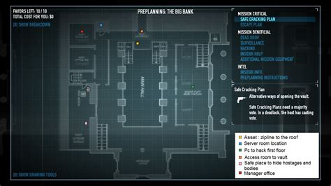 Game Room Floor Plans payday 2 the big bank heist preplanning and new stuff