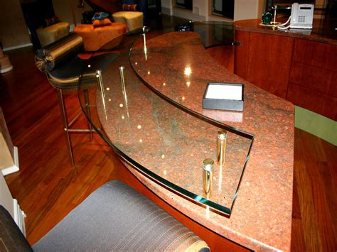 Glass Bar Top by Raised Plain Glass Countertop Rb 21 Cbd Glass