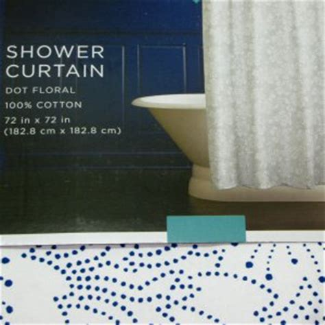navy blue shower curtain target target home navy blue dot floral fabric shower curtain