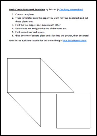 corner bookmark templates free corner bookmark tutorial and free template