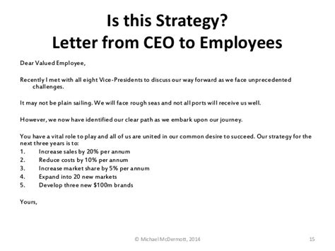 New Financial Year Letter To Employees Rumelt Strategy Is Not Goal Setting