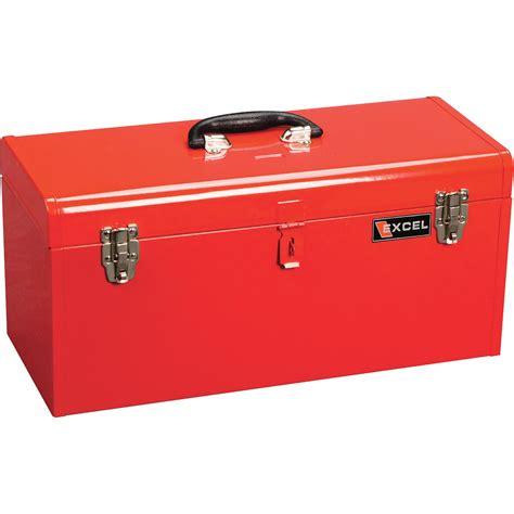 Tool Box | excel portable toolbox with tray model tb140 red tool