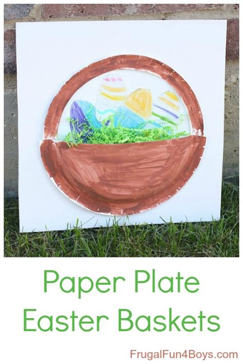 Paper Plate Easter Basket Craft - paper plate easter basket craft for
