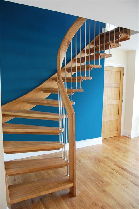 Handrail Posts Bespoke Timber Staircase With Floating Oak Treads Click