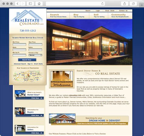 Real Estate Website Designs Custom Versus Templates Revisited Realtor Website Templates With Idx
