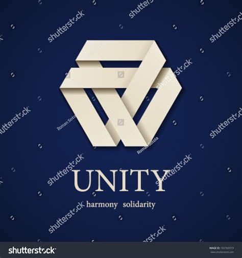 unity layout save vector unity paper triangle icon design template