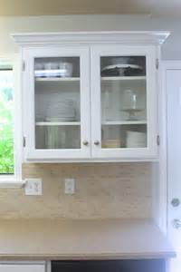 Glass Panels For Kitchen Cabinets Remodelaholic Upgrade Cabinets By Building A Custom Plate Rack Shelf