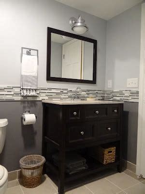 two tone paint with tile inbetween for the home