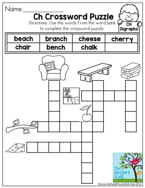printable reading puzzles digraphs ch words no prep packet activities phonics