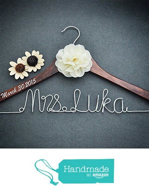 bridal shower gifts from of honor personalized bridal dress hanger bridal shower gift custom rustic wedding hanger