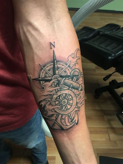 compass and anchor tattoo designs ship wheel compass anchor u gene