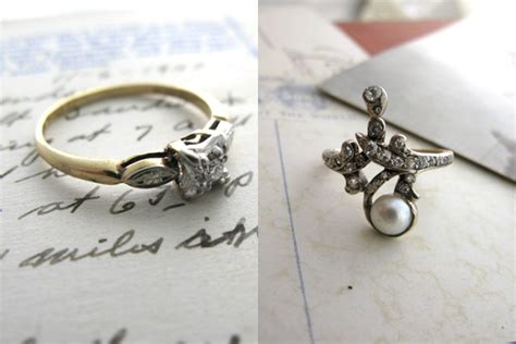 best of affordable antique engagement rings