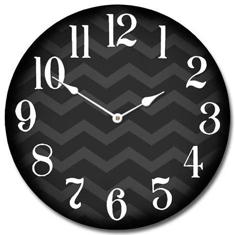 Shabby Chic Dining Room Chevron Black Clock The Big Clock Store
