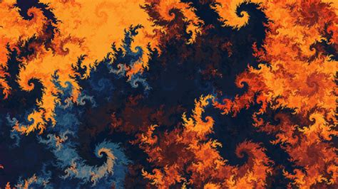 patterns fractal twisted multicolored wallpaper
