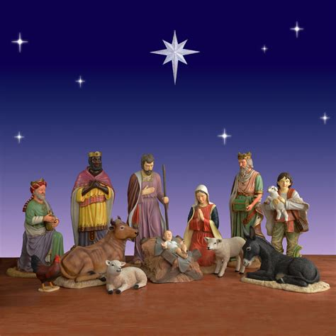 size nativity set 12 outdoor fiberglass 54 in scale