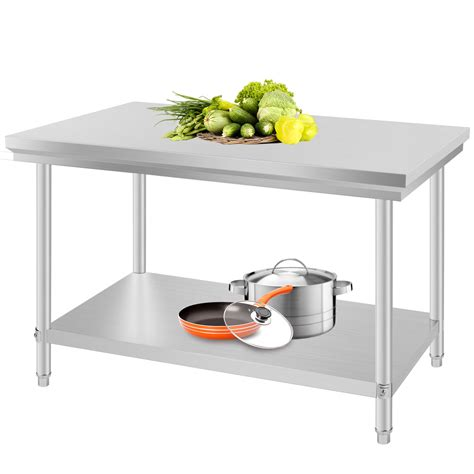 24 quot x 48 quot stainless steel kitchen work prep table storage