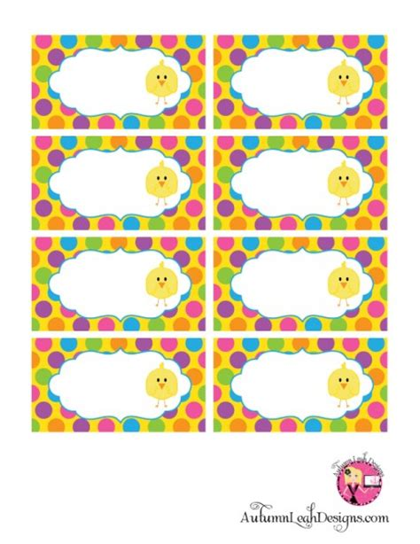 printable easter themed name tags free easter party printables from autumn leah designs