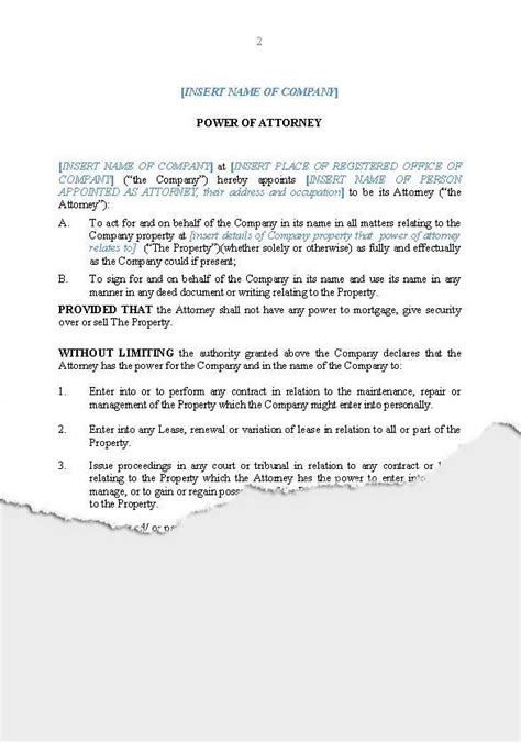 28 business power of attorney template revocation