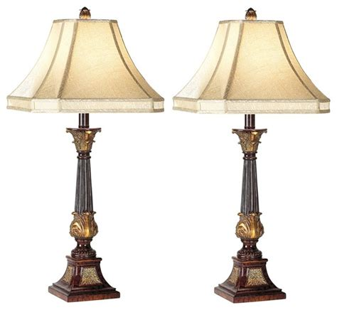 set of two bronze buffet ls traditional