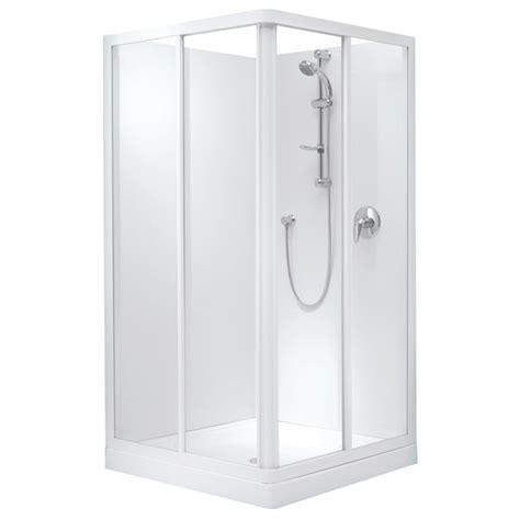 Corner Shower System Sapphire Square Corner Sliding Shower System 1000