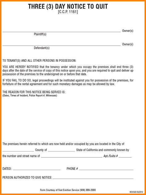 10  eviction notice form california   housekeeper checklist