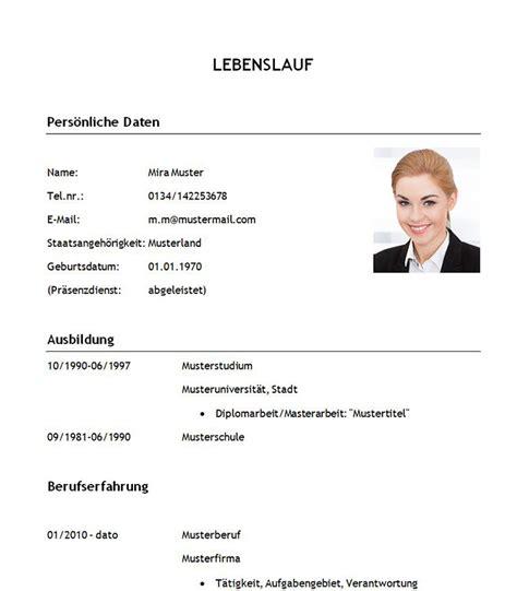 Professioneller Briefvorlage Muster Lebenslauf Word Muster Lebenslauf Student