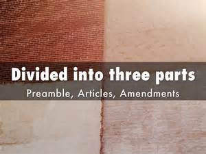 the us constitution is divided into three sections the u s constitution by jason apgar