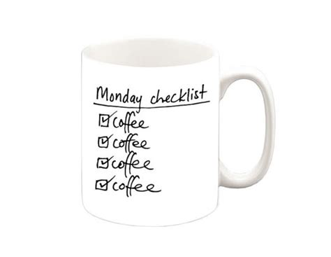 Coffee Cup Meme - items similar to monday checklist coffee coffee funny