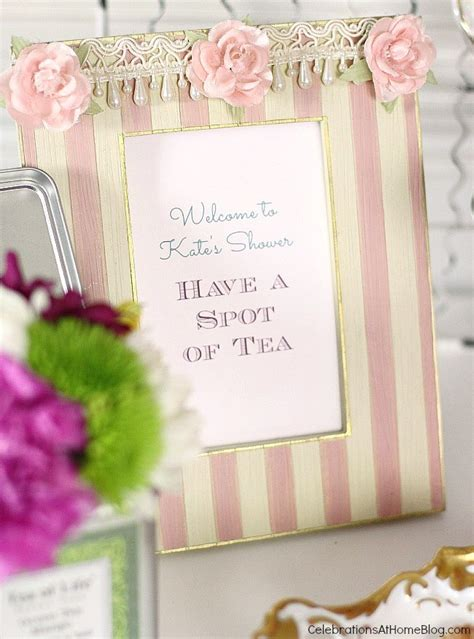 Garden Work Table Tea Party Bridal Shower Ideas Celebrations At Home