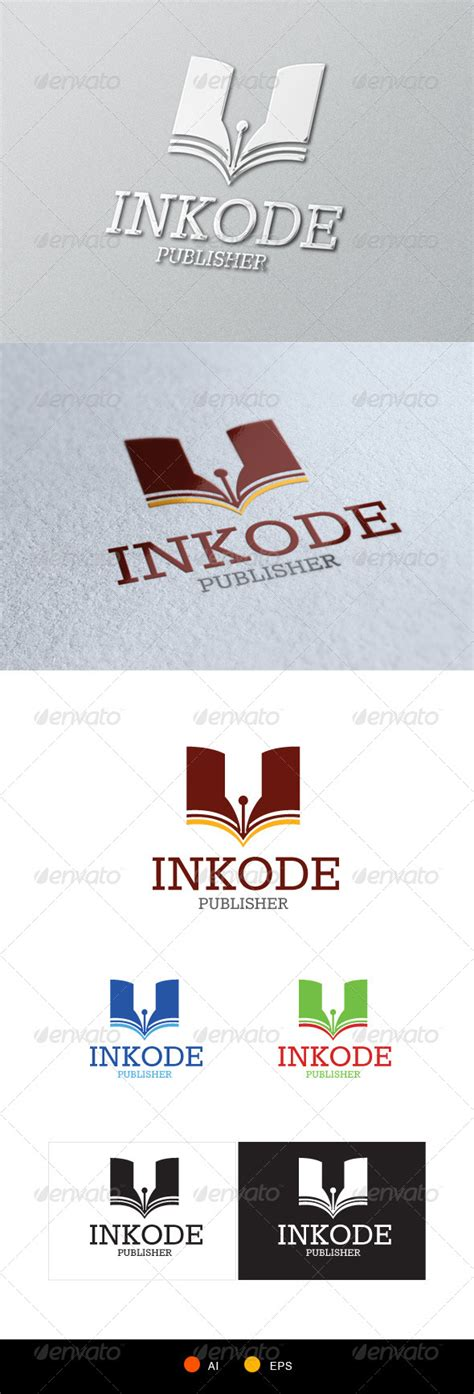 publisher logo templates inkode publisher logo template by gulali graphicriver