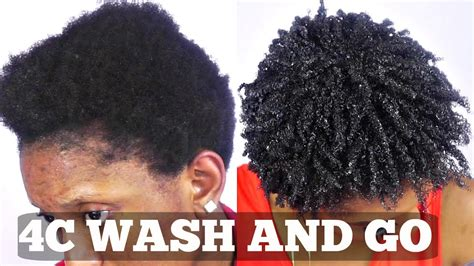 wash and go short natural 4c hair tutorial youtube