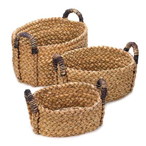 Rustic Home Decor Wholesale Wholesale 3pc Rustic Woven Nesting Basket Set Buy