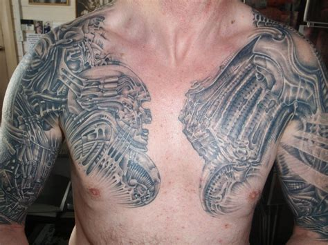 younger boys shoulder and chest tattoos design tattoo