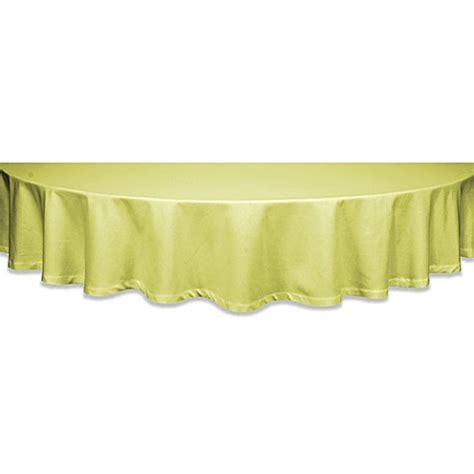 buy classique 60 inch round tablecloth in celery from bed bath beyond
