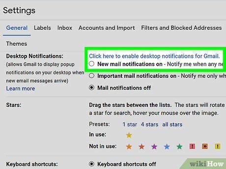 gmail de escritorio c 243 mo habilitar las notificaciones de escritorio de gmail