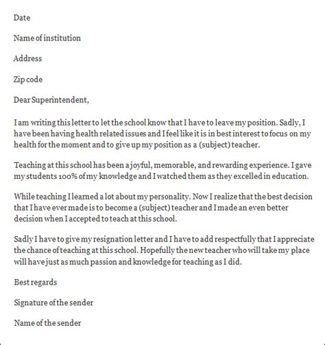 Resignation Letter Of School Principal Resignation Letter Format Resignation Letter To Principal Uncomfortable Situation