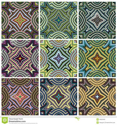set traditional african ndebele patterns vector stock ndebele cartoons illustrations vector stock images 17