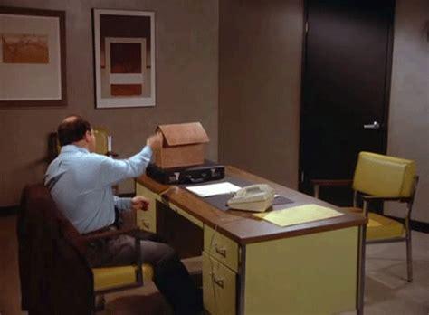 Flip The Table Emoticon George Costanza Bored At Work Pencil Drumming Gif Wifflegif