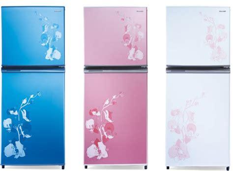 Freezer Hartono Elektronik sharp sj 235md kulkas dua pintu motif bunga sinar lestari