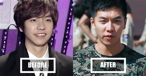 lee seung gi military unit 6 before and after photos of male idols who joined the army